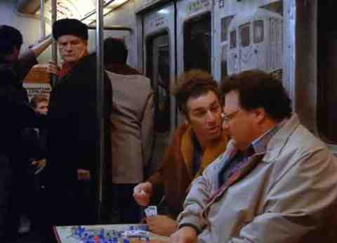 Newman (Wayne Knight) and Kramer (Michael Richards) Play Risk on Seinfeld