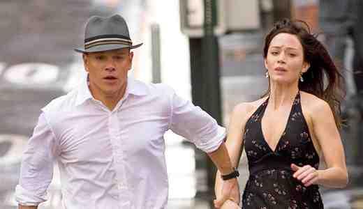 Matt Damon and Emily Blunt as David Norris and Elise Sellas in The Adjustment Bureau