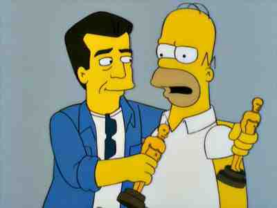 Homer Simpson meets Mel Gibson in Beyond Blunderdome