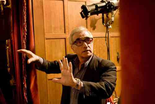 Martin Scorsese on set, directing Shutter Island