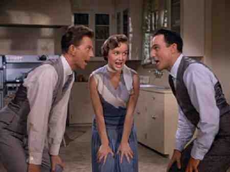 Gene Kelly, Debbie Reynolds, and Donald OConnor round out Singin' In The Rain