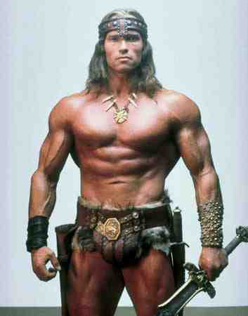 Arnold Schwarzenegger as Conan the Barbarian