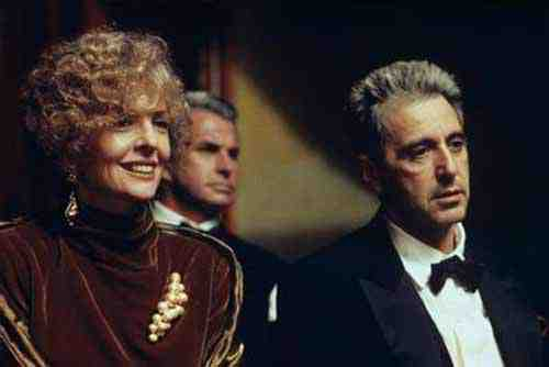 Diane Keaton and Al Pacino in The Godfather, Part III