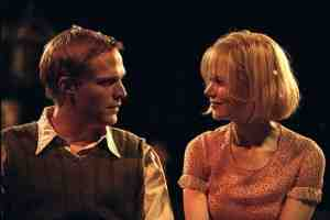 Paul Bettany as Tom and Nicole Kidman as Grace in Dogville