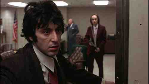 Al Pacino and John Cazale try to rob a bank in Dog Day afternoon