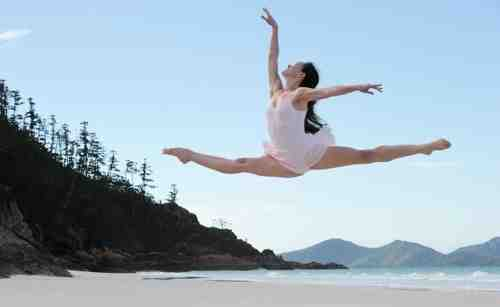 Ballet Dancer in Air