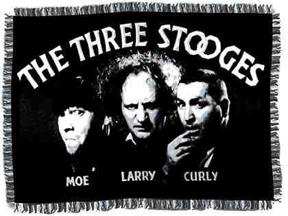 Moe, Larry, and Curly of the Three Stooges