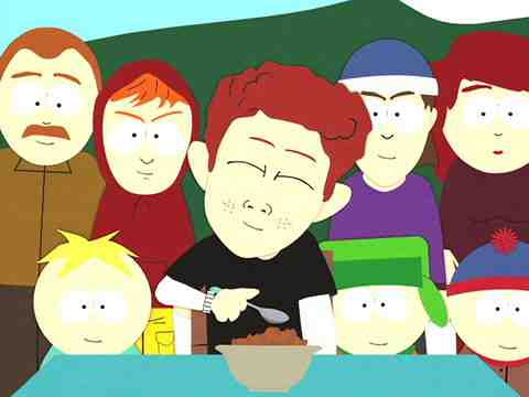 Scott Tenorman and Eric Cartman in South Park