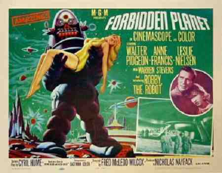 Anne Francis stars in Forbidden Planet