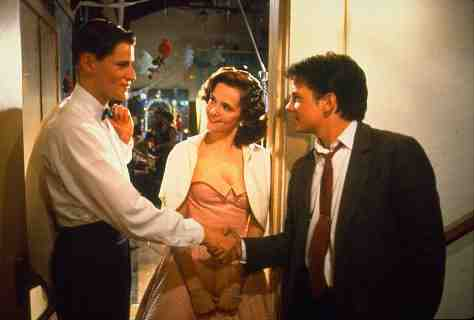 Crispin Glover, Michael J. Fox, and Lea Thompson in Back to the Future