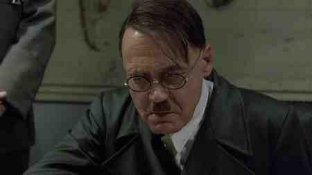 Bruno Ganz gives a passionate performance in Downfall