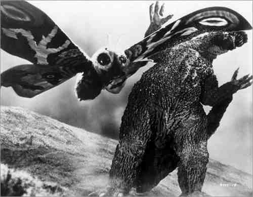 Mothra and Godzilla battle to become one each other's most renowned enemies.