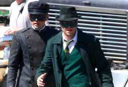 Seth Rogen as Britt Reid and Jay Chou as Kato in The Green Hornet