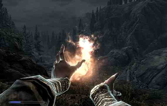 Skyrim Mage Dual Cast Fireball
