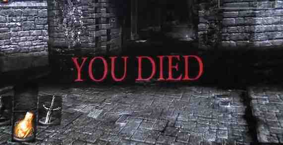 Dark Souls Death Screen