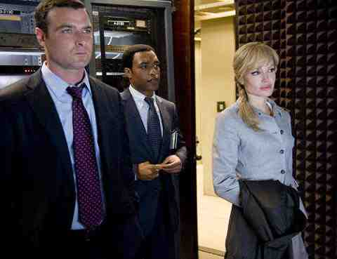 Angelina Jolie, Liev Schreiber, and Chiwetel Ejiofor in Salt