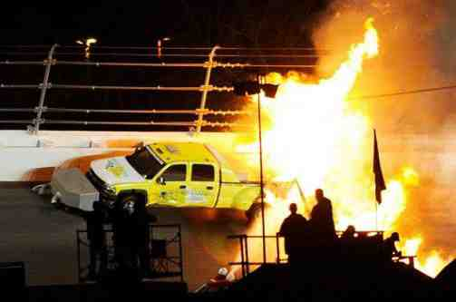 NASCAR crash from February 27, 2012