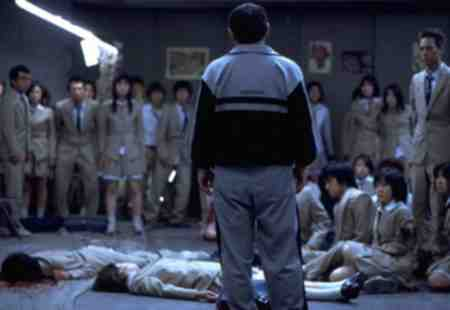 Beat Takeshi Kitano presides over the bloodshed of Battle Royale