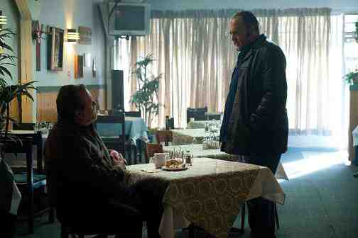 Janek Kavarsky (Don Thompson) and Stan Larsen (Brent Sexton) in The Killing Season 2