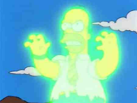 Homer Simpson Irradiated Glowing