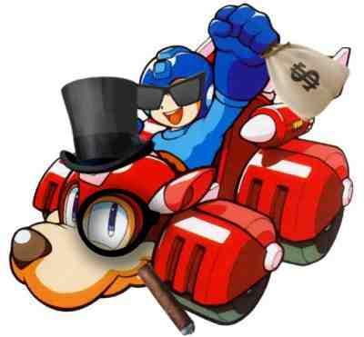 Mega Man Capcom Money Greed Rush Cash