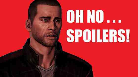 Commander Shepard Spoilers Mass Effect 3 Ending