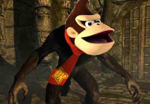 Skyrim Donkey Kong Werewolf