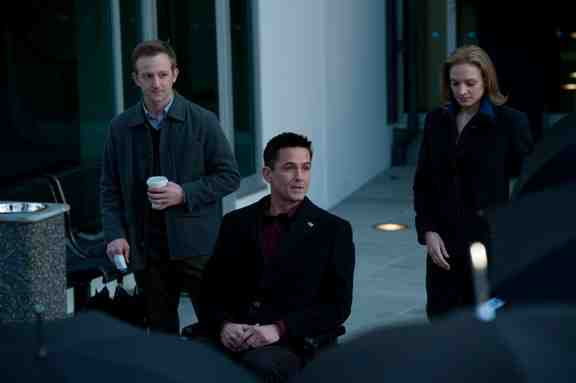 Gwen Eaton (Kristen Lehman), Darren Richmond (Billy Campbell) and Jamie Wright (Eric Ladin) in The Killing