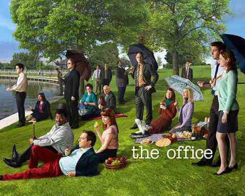 THE OFFICE -- Pictured: (l-r) B.J. Novak as Ryan Howard, Mindy Kaling as Kelly Kapoor, Zach Woods as Gabe Lewis, Craig Robinson as Darryl Philbin, Cody Horn as Jordan Garfield, Phyllis Smith as Phyllis Lapin, Ed Helms as Andy Bernard, Creed Bratton as Creed, Oscar Nunez as Oscar Martinez, Brian Baumgartner as Kevin Malone, Ellie Kemper as Kelly Erin Hannon, Leslie David Baker as Stanley Hudson, Rainn Wilson as Dwight Schrute, Kate Flannery as Meredith Palmer, Angela Kinsey as Angela Martin, Paul Lieberstein as Toby Flenderson, John Krasinski as Jim Halpert, Jenna Fischer as Pam Halpert