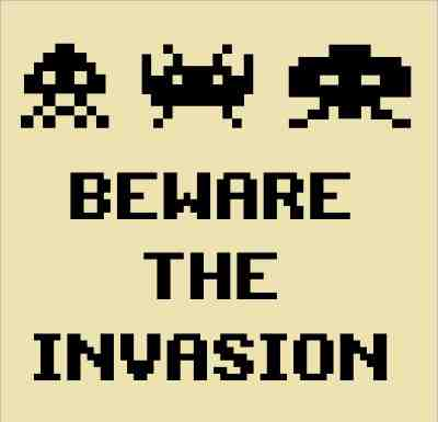 Sapce invaders poster