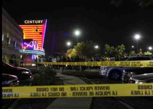 Photo of Aurora, CO theater after shootings