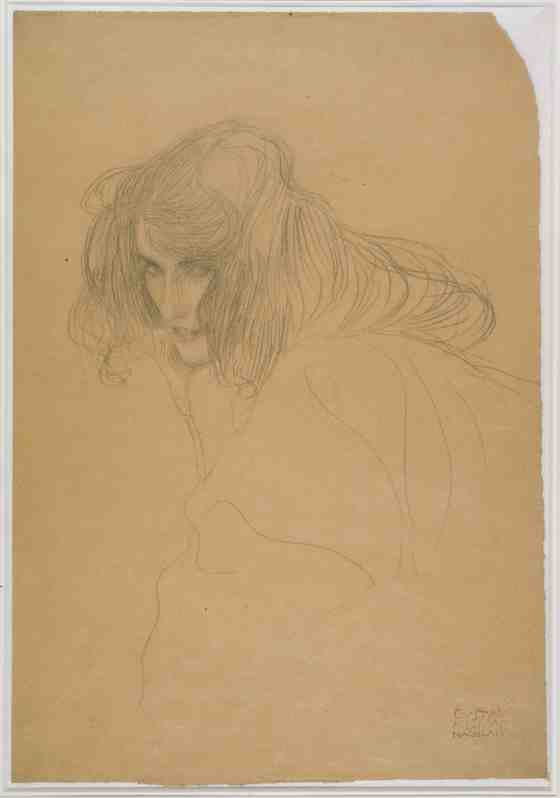 Gustav Klimt: Study of a Woman's Head in Three-Quarter Profile