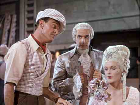 Jean Hagen as Lina Lamont makes a mess of The Dueling Cavalier