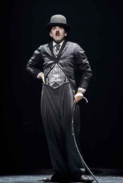 Rob McClure as Charlie Chaplin on Broadway