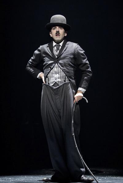 Rob McClure as Charlie Chaplin on Broadway