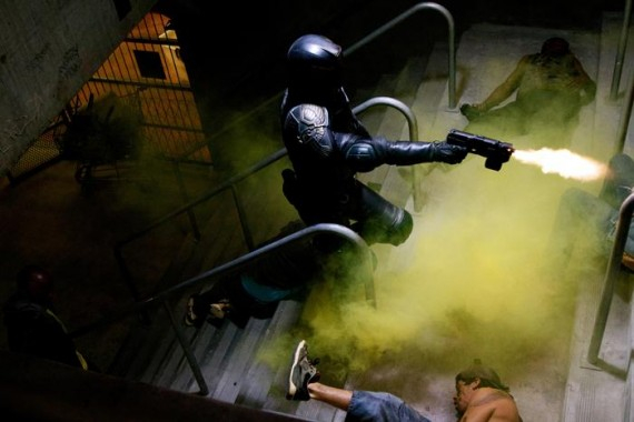 Movie still: Dredd 3D