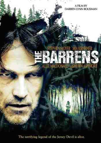 Movie poster for The Barrens starring Stephen Moyer