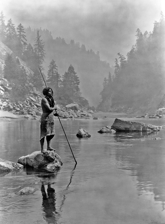 Edward S. Curtis: A smoky day at the Sugar Bowl - Hupa