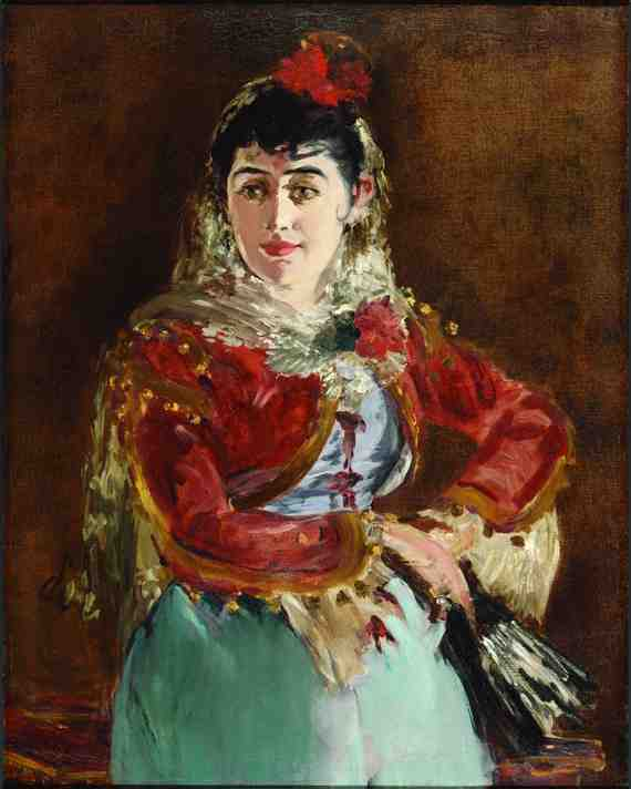 Édouard Manet:  Portrait of Emilie Ambre as Carmen
