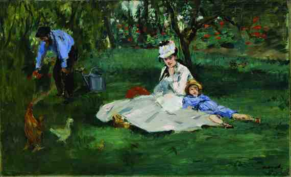 Édouard Manet: The Monet Family in their Garden at Argenteuil