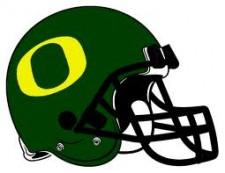 Oregon Ducks helmet