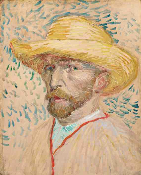Vincent van Gogh: Self-Portrait with Straw Hat