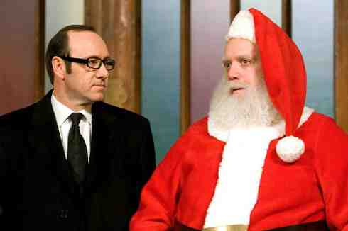 Kevin Spacey and Paul Giamatti in Fred Claus