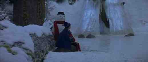 Joseph Cross and Snowman in Ice Palace in Jack Frost