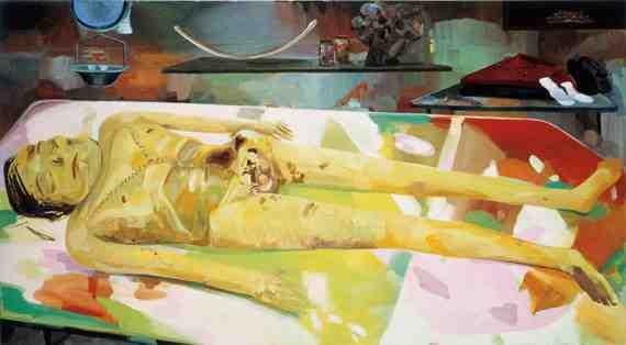 Dana Schutz: Autopsy of Michael Jackson