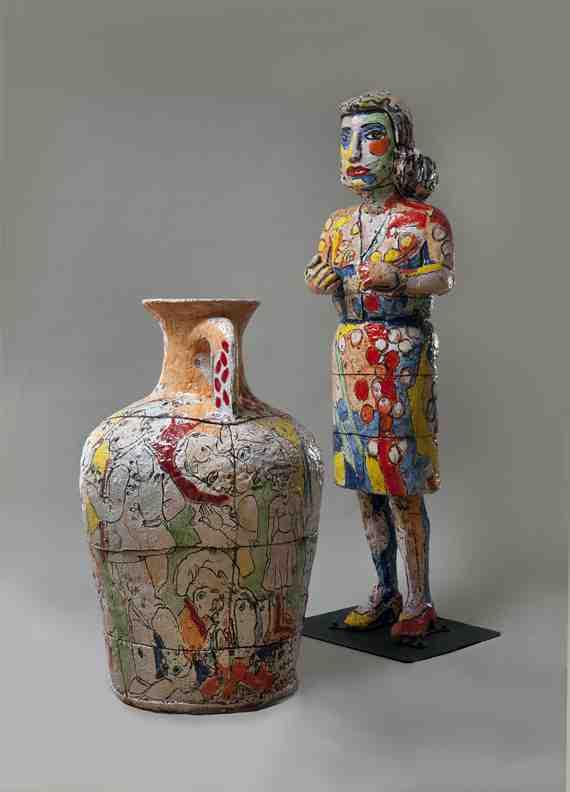 Viola Frey: Grandmother with Vase