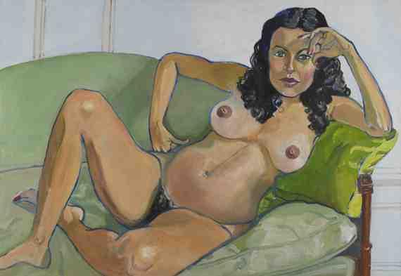Alice Neel: Claudia Bach Pregnant
