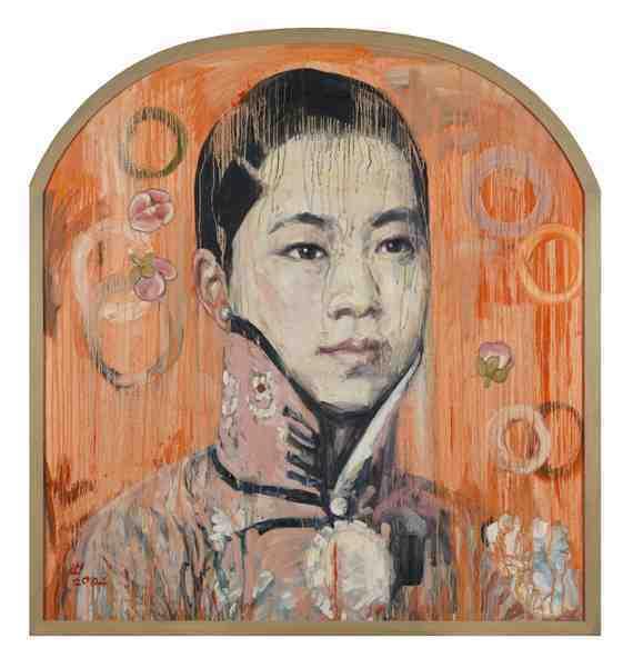 Hung Liu: Visage II