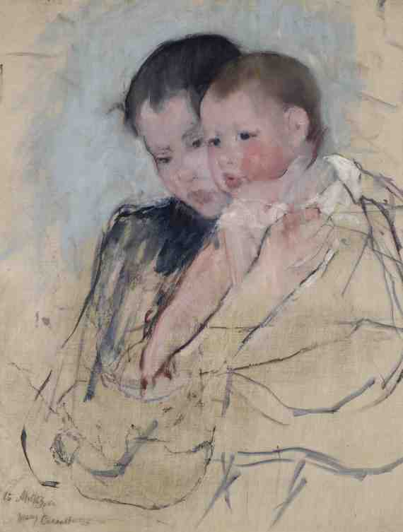 Mary Cassatt: Baby on Mothers Arm