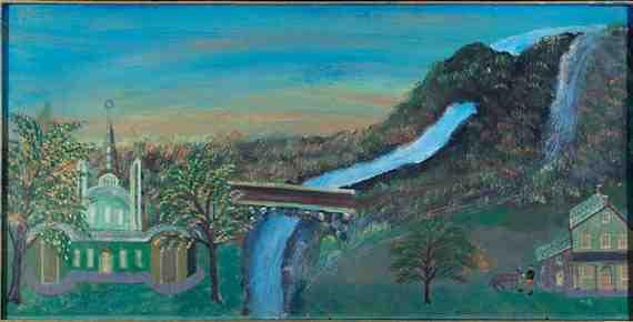 Landscape with River and Exotic Church. Bruno Del Favero
